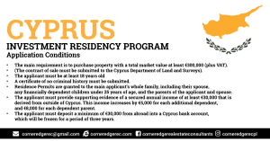 Cyprus Residency Program - Application Conditions