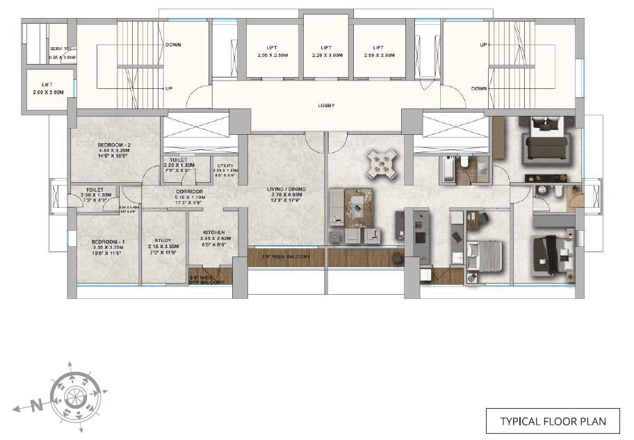 ParkMist - typical floor Plan