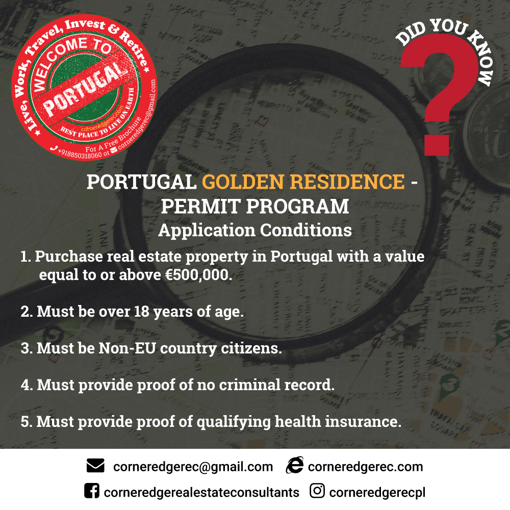 PORTUGAL-GOLDEN-RESIDENCE - (Application Conditions)