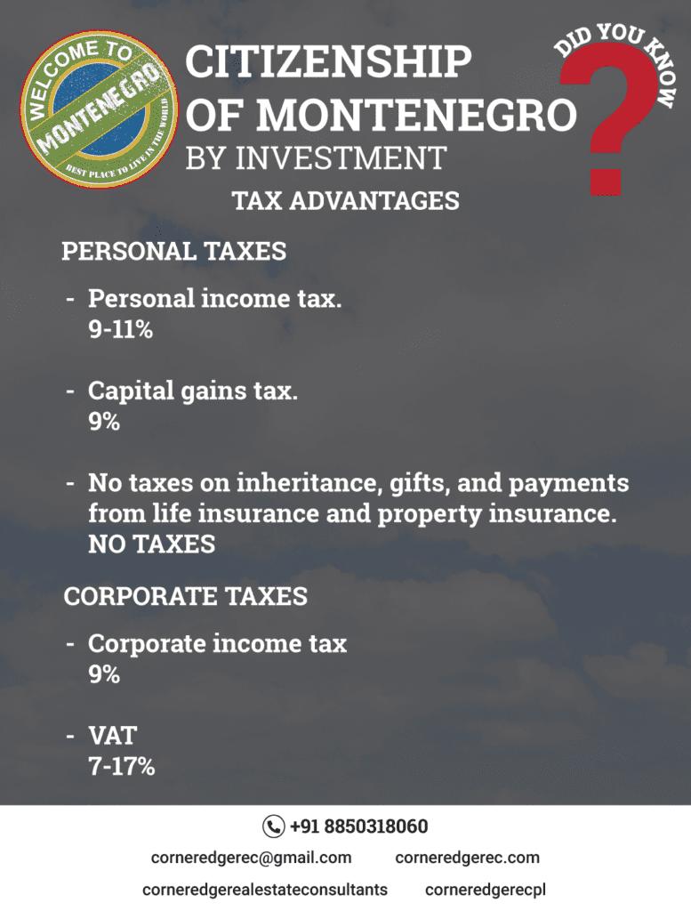 Citizenship of Montenegro - Tax Advantages